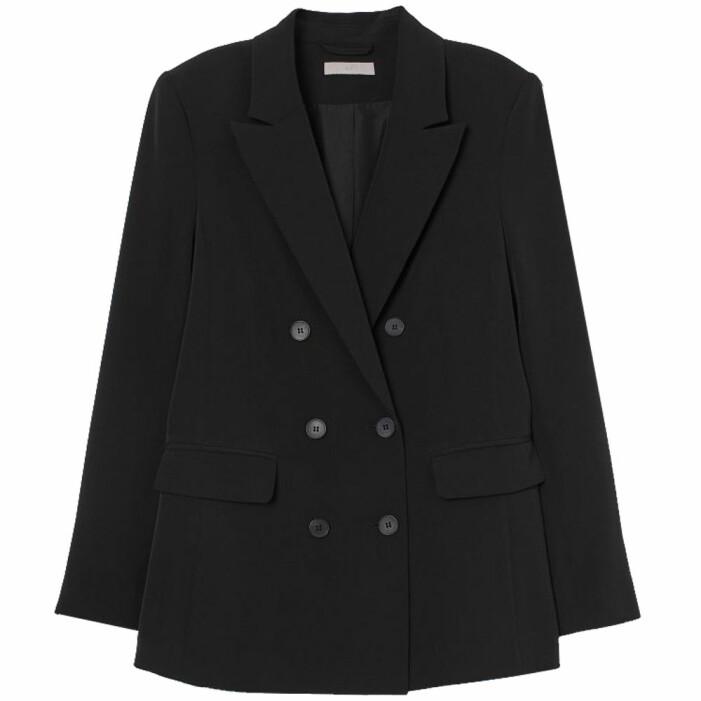 svart dubbelknäppt kavaj från H&M