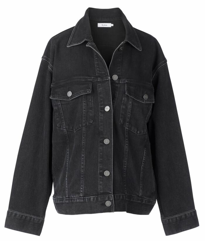 svart jeansjacka från Stylein.