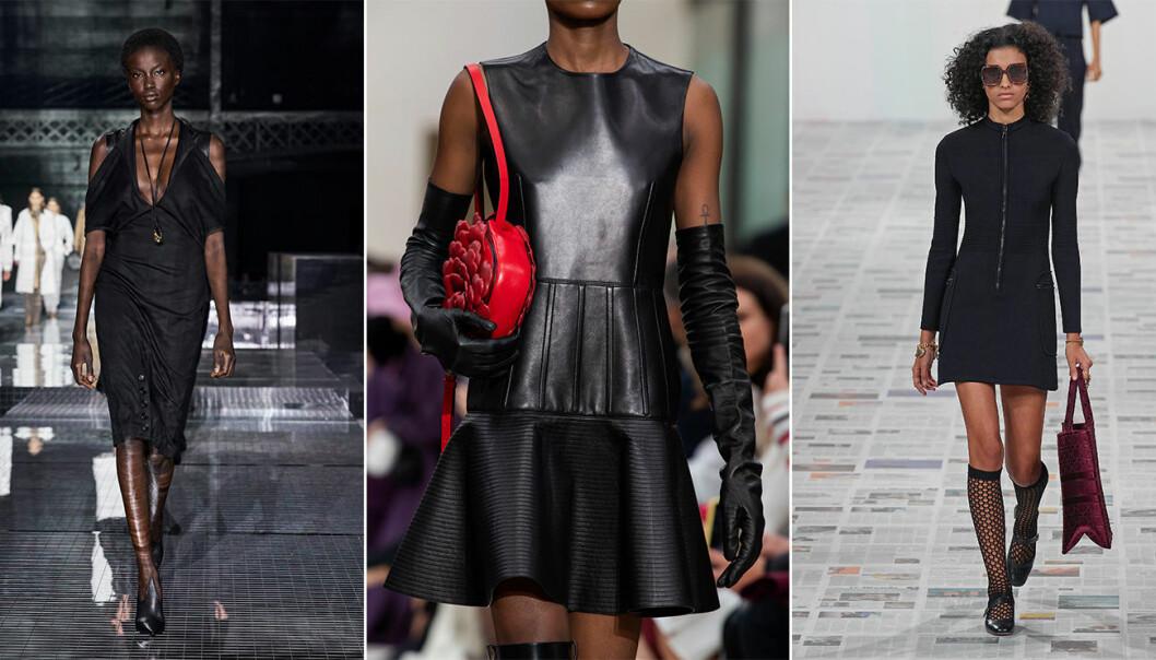 Svarta klänningar hösten 2020.