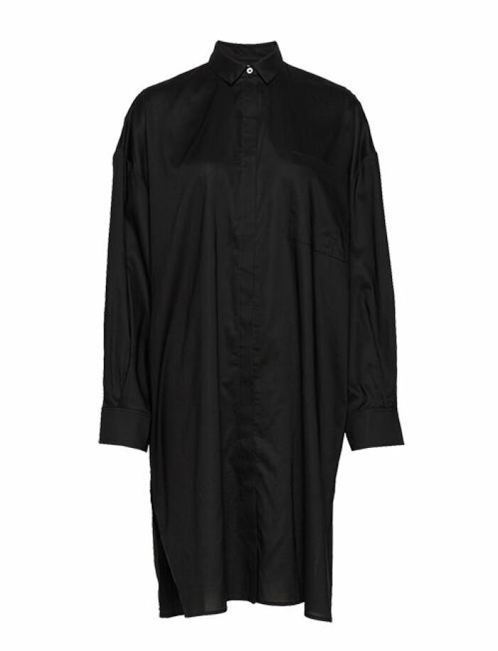 svart lång skjorta dam