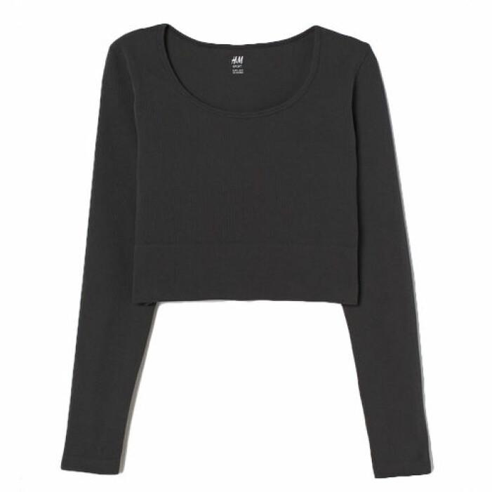 Svart seamless topp från H&M