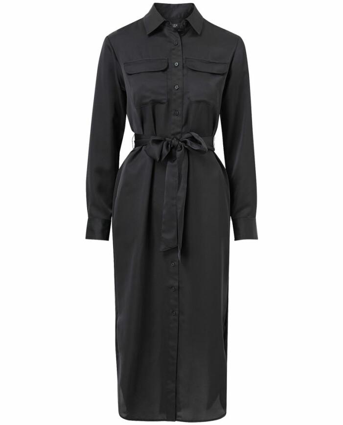 Svart skjortklänning i satin från Lauren Ralph Lauren