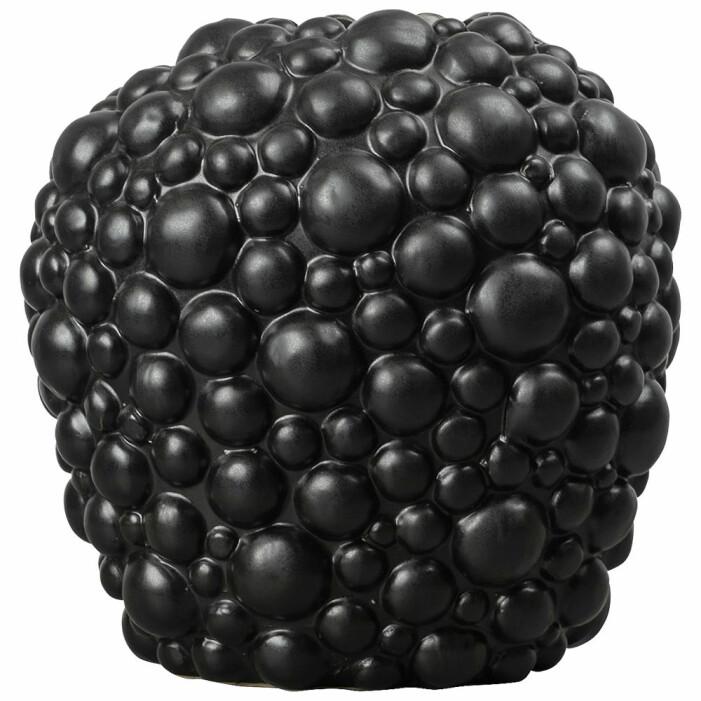 svart bubblig vas från ByOn
