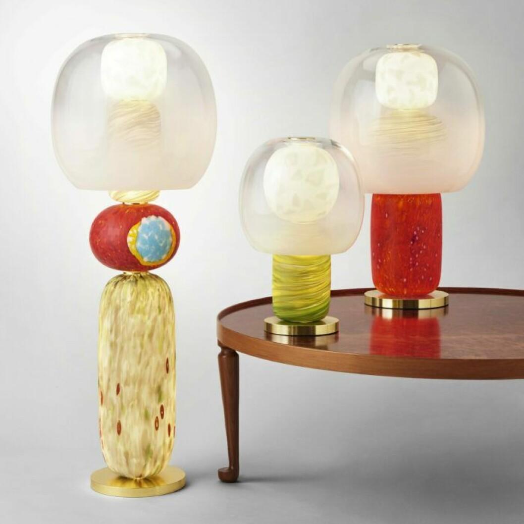 Färgstarka lampor är trendigt 2019.