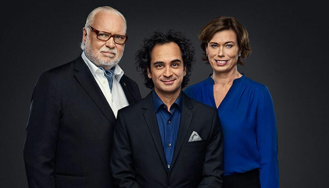 Leif Mannerström, Markus Aujalay och Mischa Billing. Foto: Pär Bäckstrand/TV4