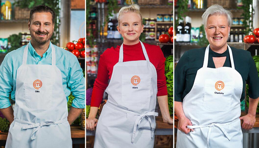 """Gillis Thalbäck, Klara Lind och Charlotta """"Lotta"""" Sturnegk."""