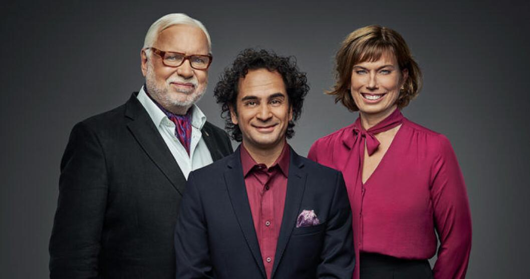 Leif Mannerström, Markus Aujulay och Mischa Billing. Foto: Pär Bäckstrand/TV4