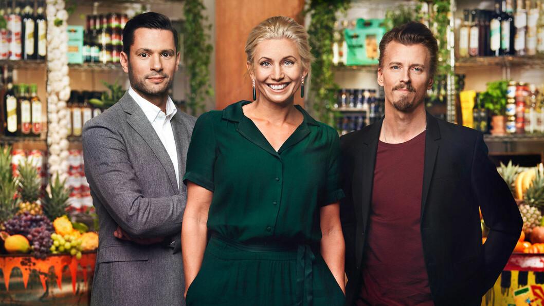 Danyel Couet, Tina Nordström och Paul Svensson.