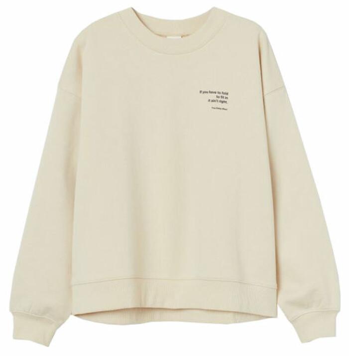 sweatshirt beige hm