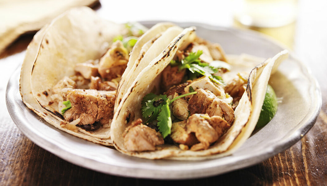 Tacos och kyckling är populär helgmat.