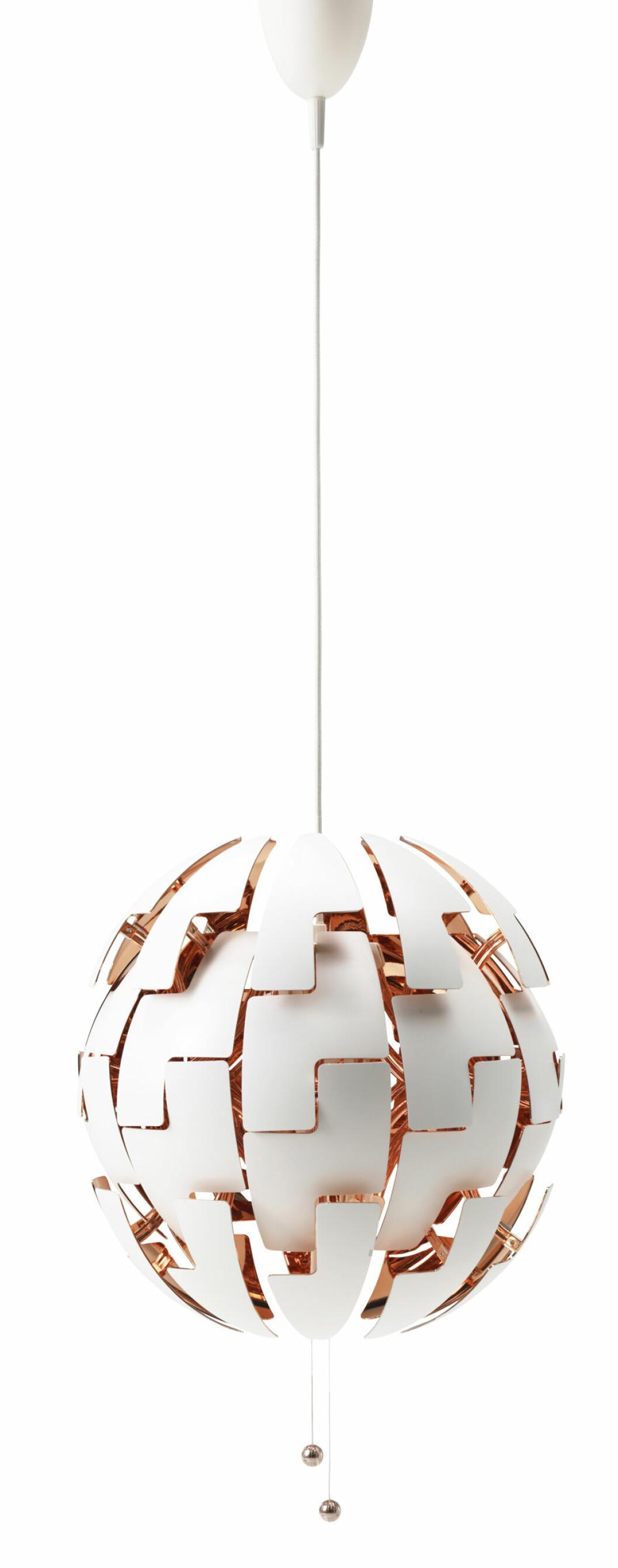 Lampa från Ikea.