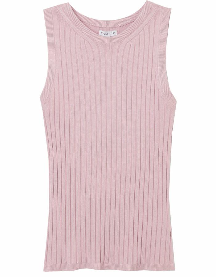 stickat linne rosa