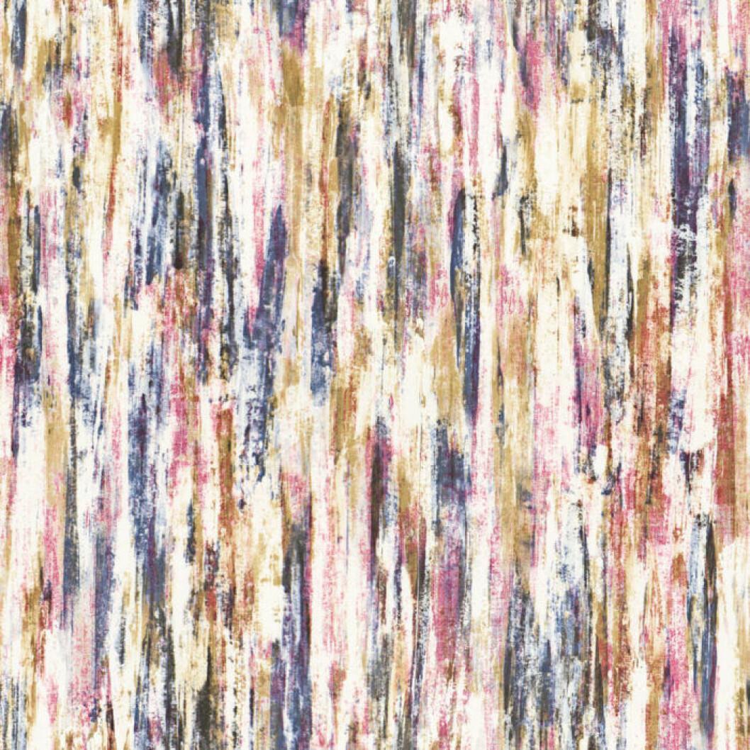 Tapeten Stine med penseldrag i olika färger från Sandberg