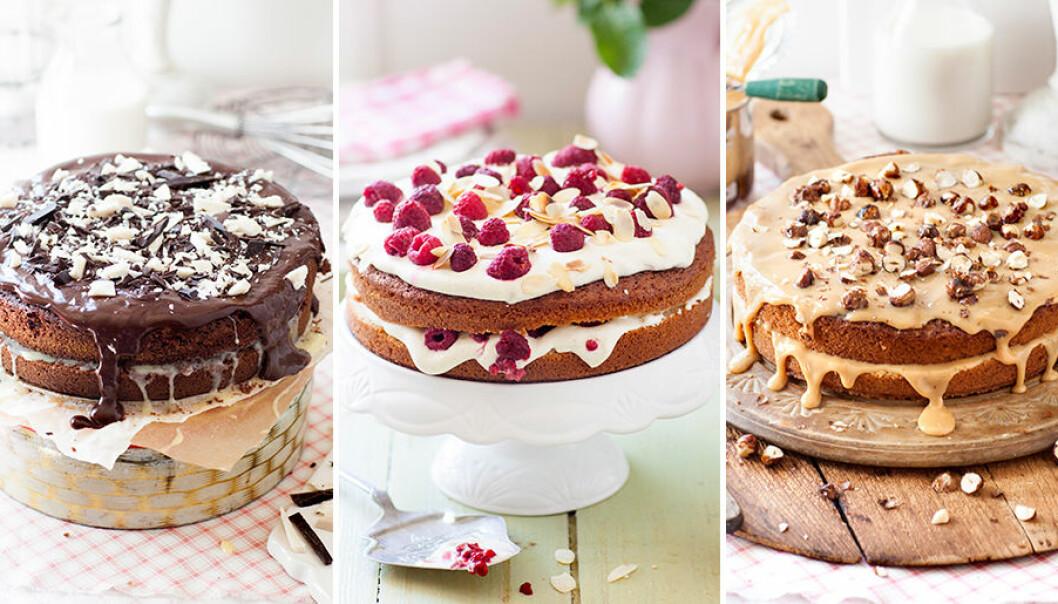 Gör flera olika tårtor på samma tårtbotten.