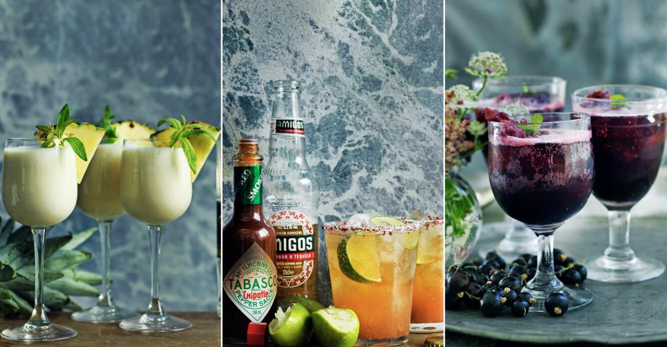 4 trendiga drinkar med färska örter