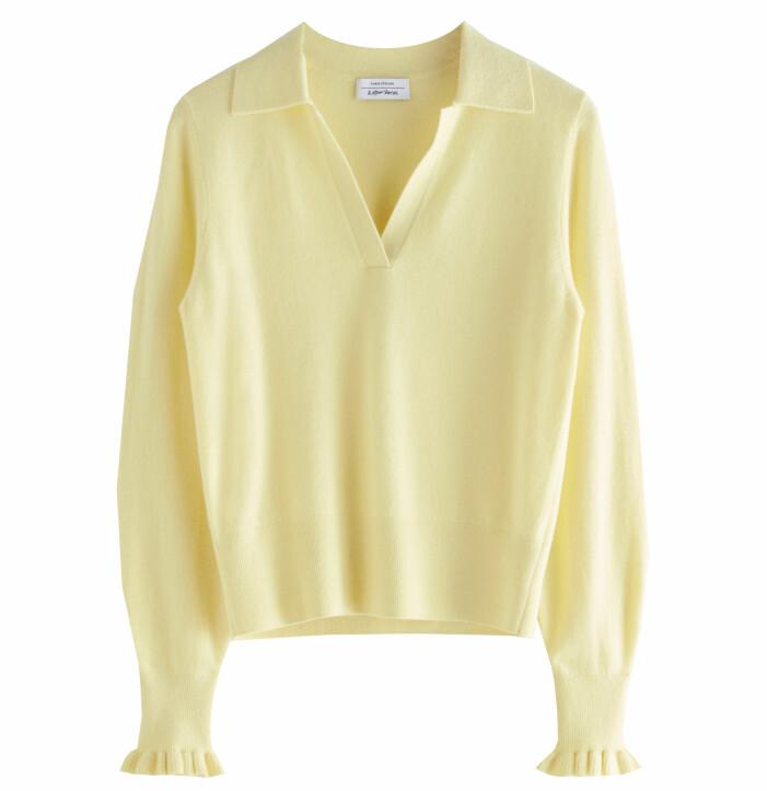 gul tröja med krage dam