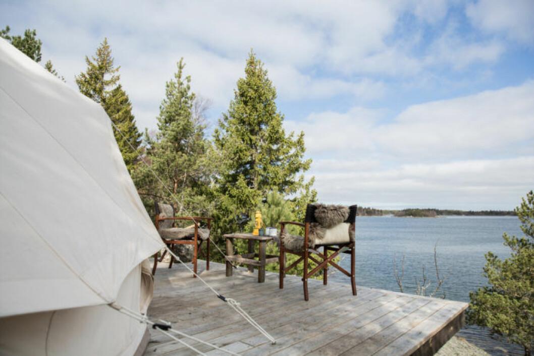 Testa på en lyxigare form av camping.