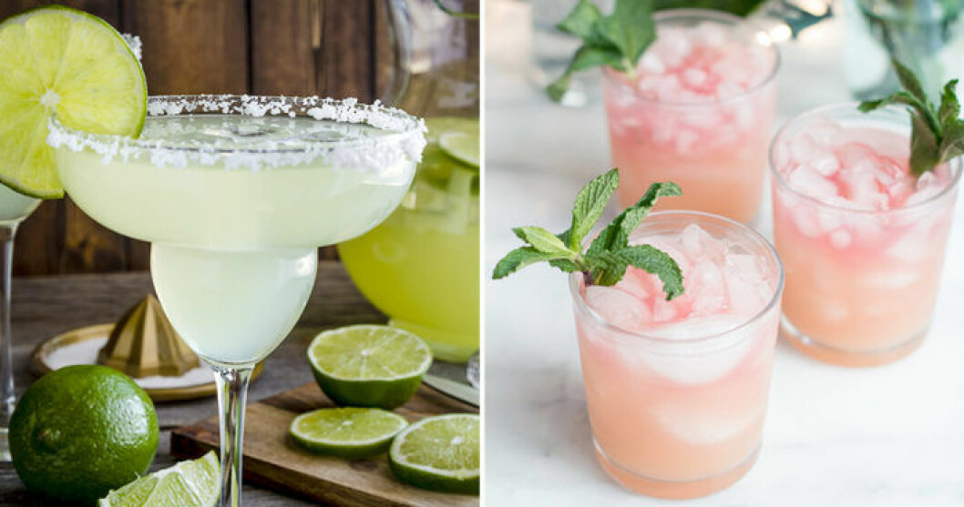 Blanda en klassisk Margarita eller Pink Señorita.