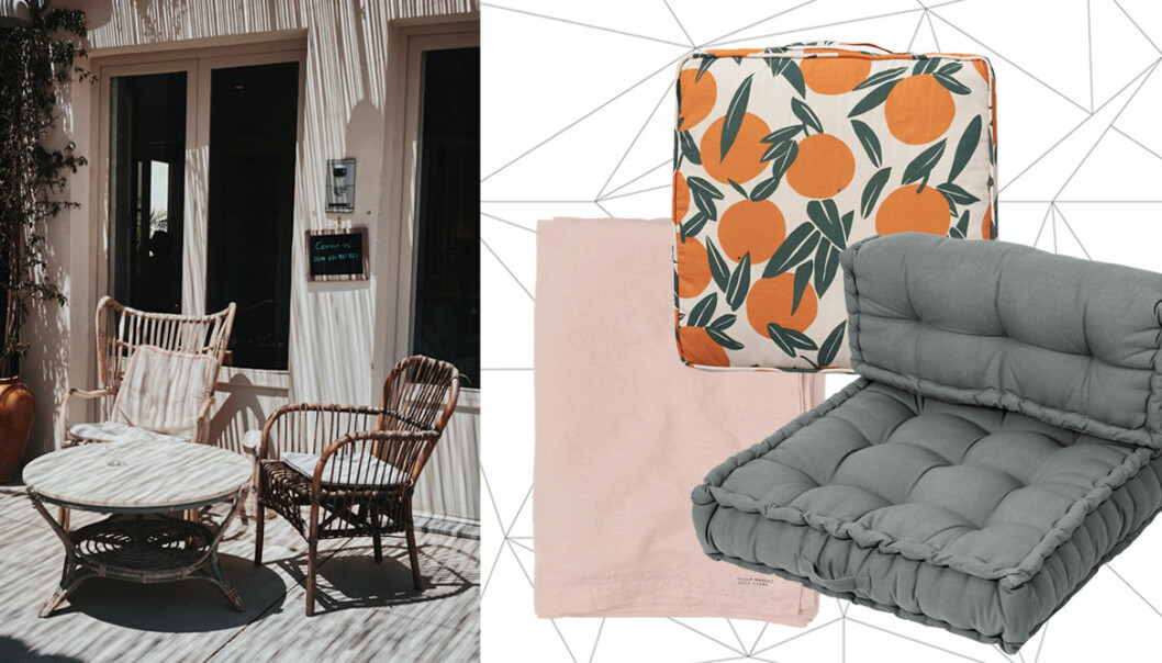 textilier till uteplats och balkong 2020