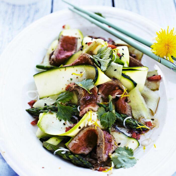 Recept på thaisallad med biff och zucchini