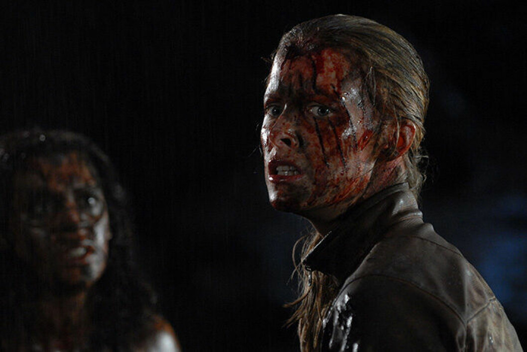 En bild från skräckfilmen The Descent.