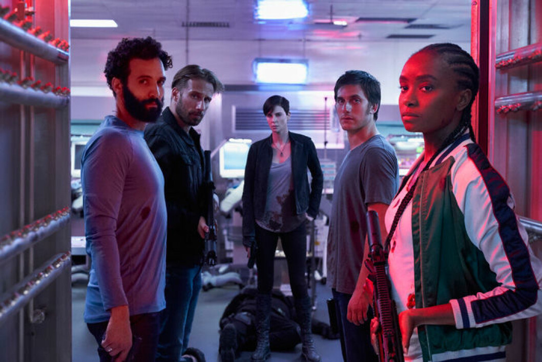 En bild från filmen The Old Guard på Netflix.