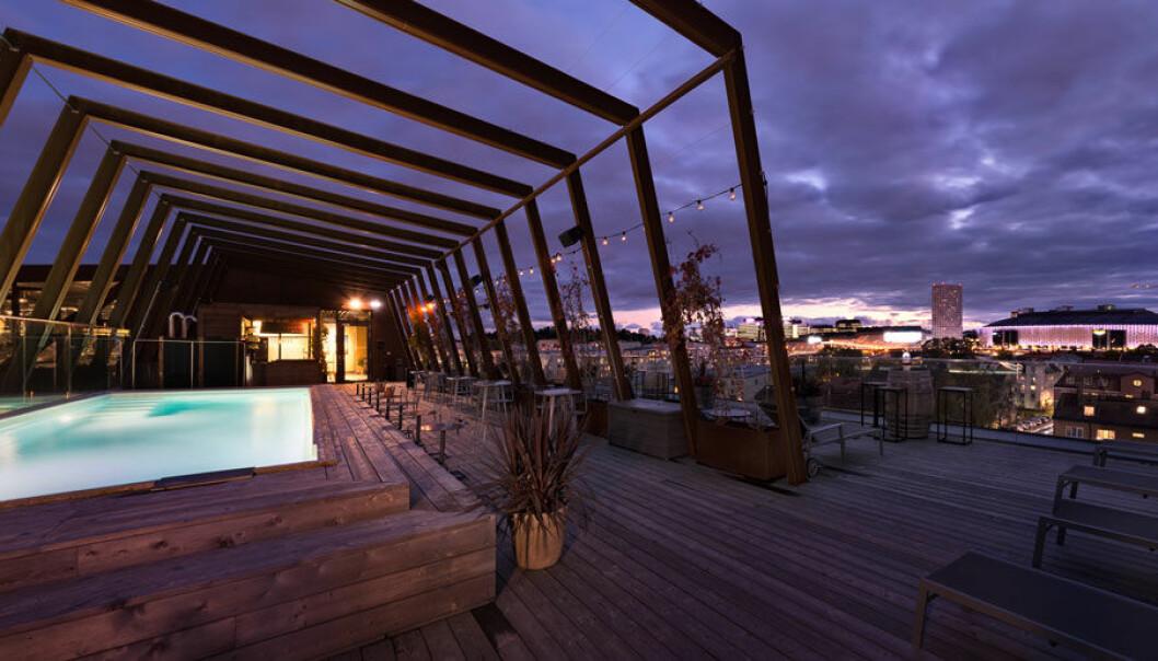 The Winery Hotels fantastiska takterrass.