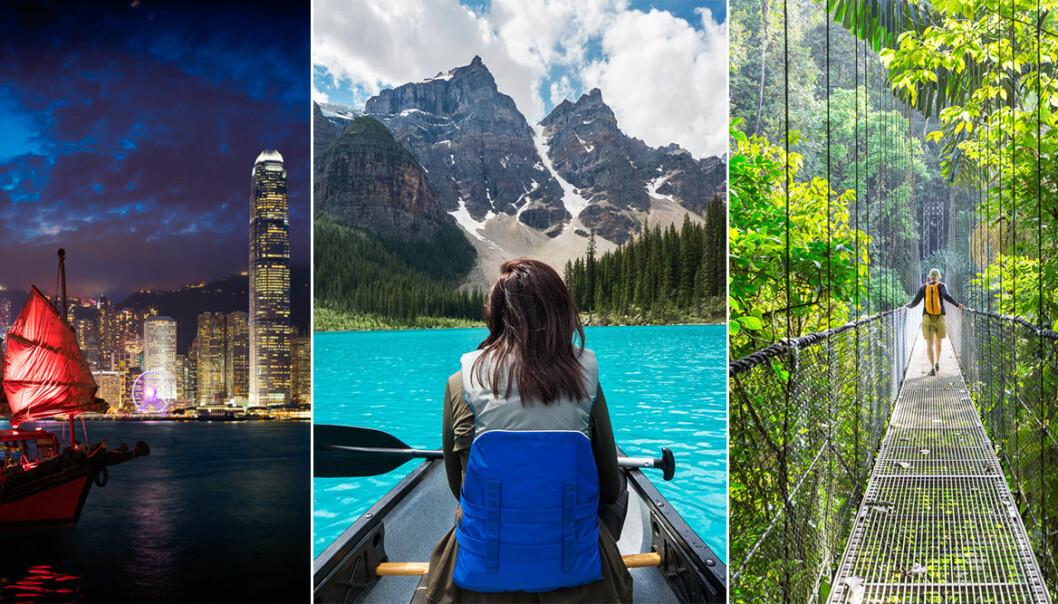 Bilder från Hong Kong, Kanada och Costa Rica