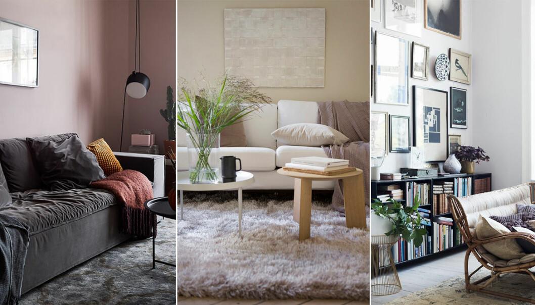 mysiga vardagsrum i olika stilar