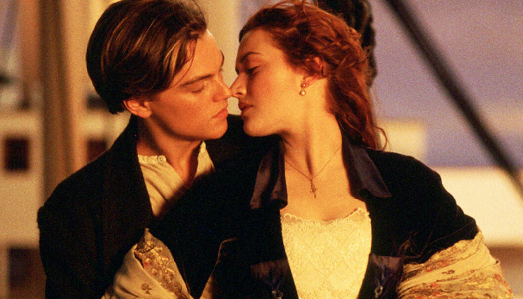 Bortklippt scen från Titanic.