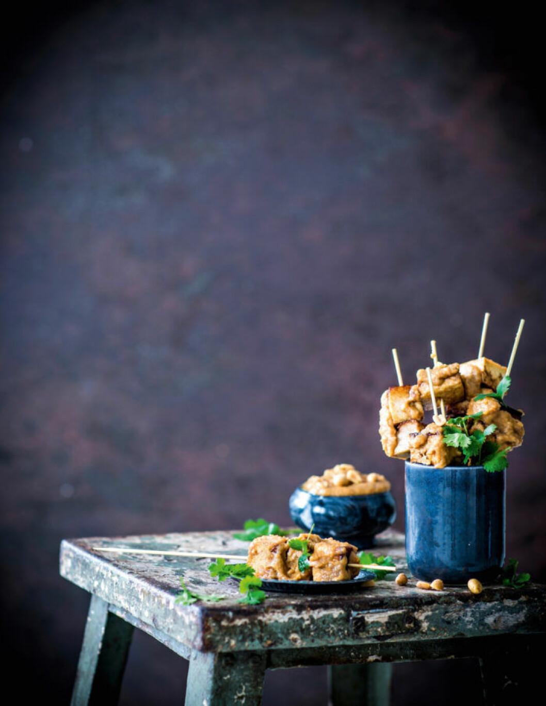 Recept på tofuspett med sataysås
