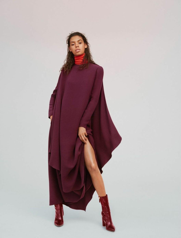 Burgundyfärgad klänning – hösten 2019 är ton i ton den största trenden
