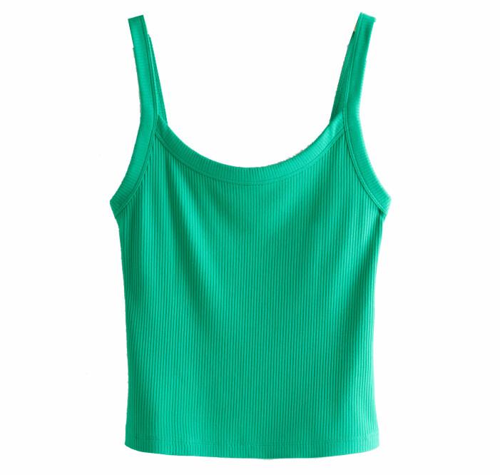 ribbat grönt linne