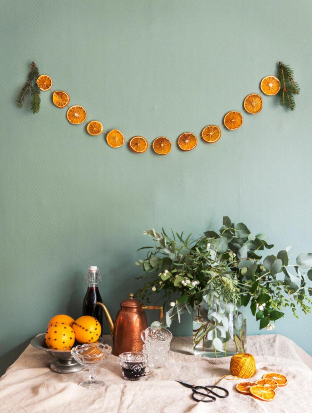 Torkade apelsinskivor – julens bästa pynt