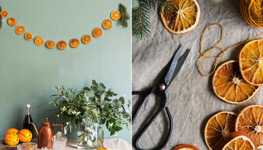 Så gör du torkade apelsinskivor – julens bästa pynt