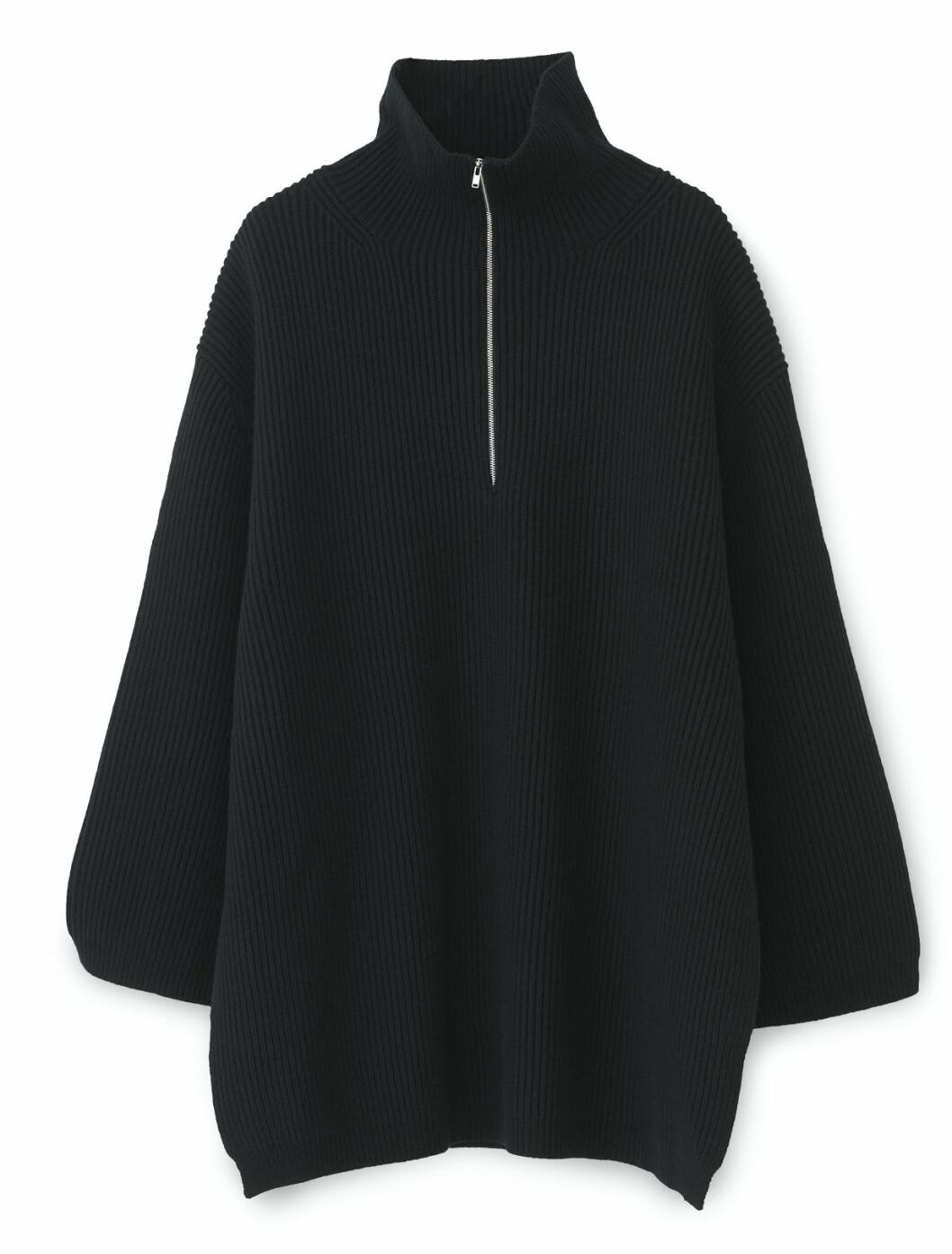Oversized tröja i svart från Totême.