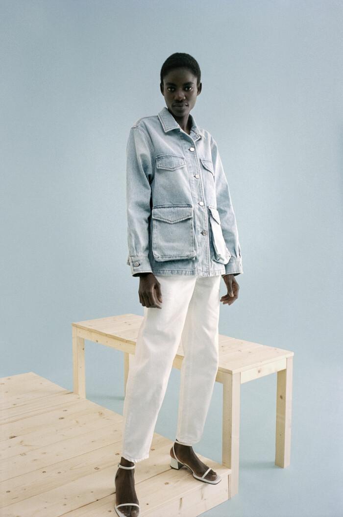 toteme x mytheresa jeansjacka