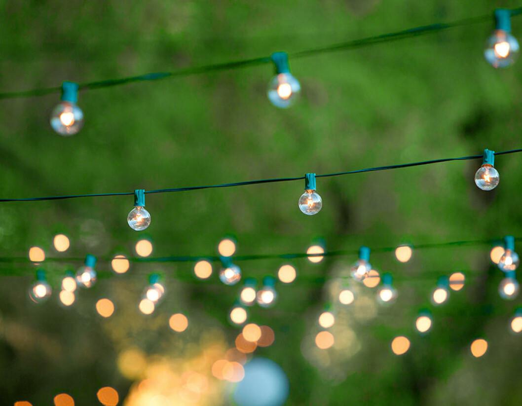 Glöm inte ljuset på trädgårdsfesten.