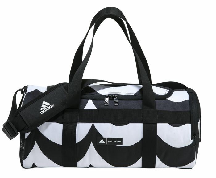 mönstrad weekend väska från marimekko x adidas