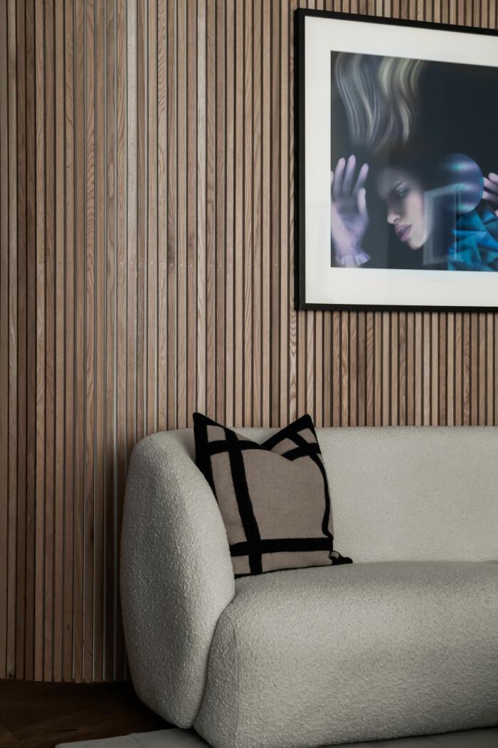 träpanel på väggen är trendigt i stylingarna