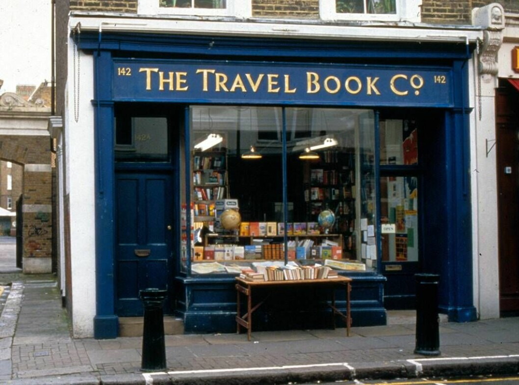 travel book shop I Notting Hill