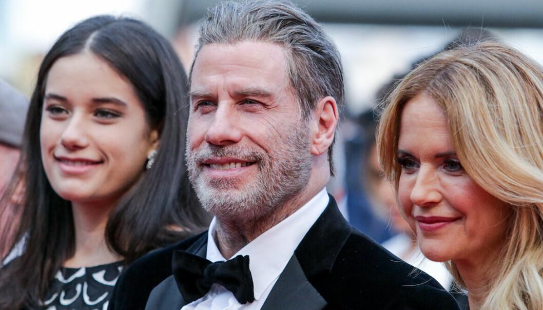 Ella Travolta, John Travolta och Kelly Preston.