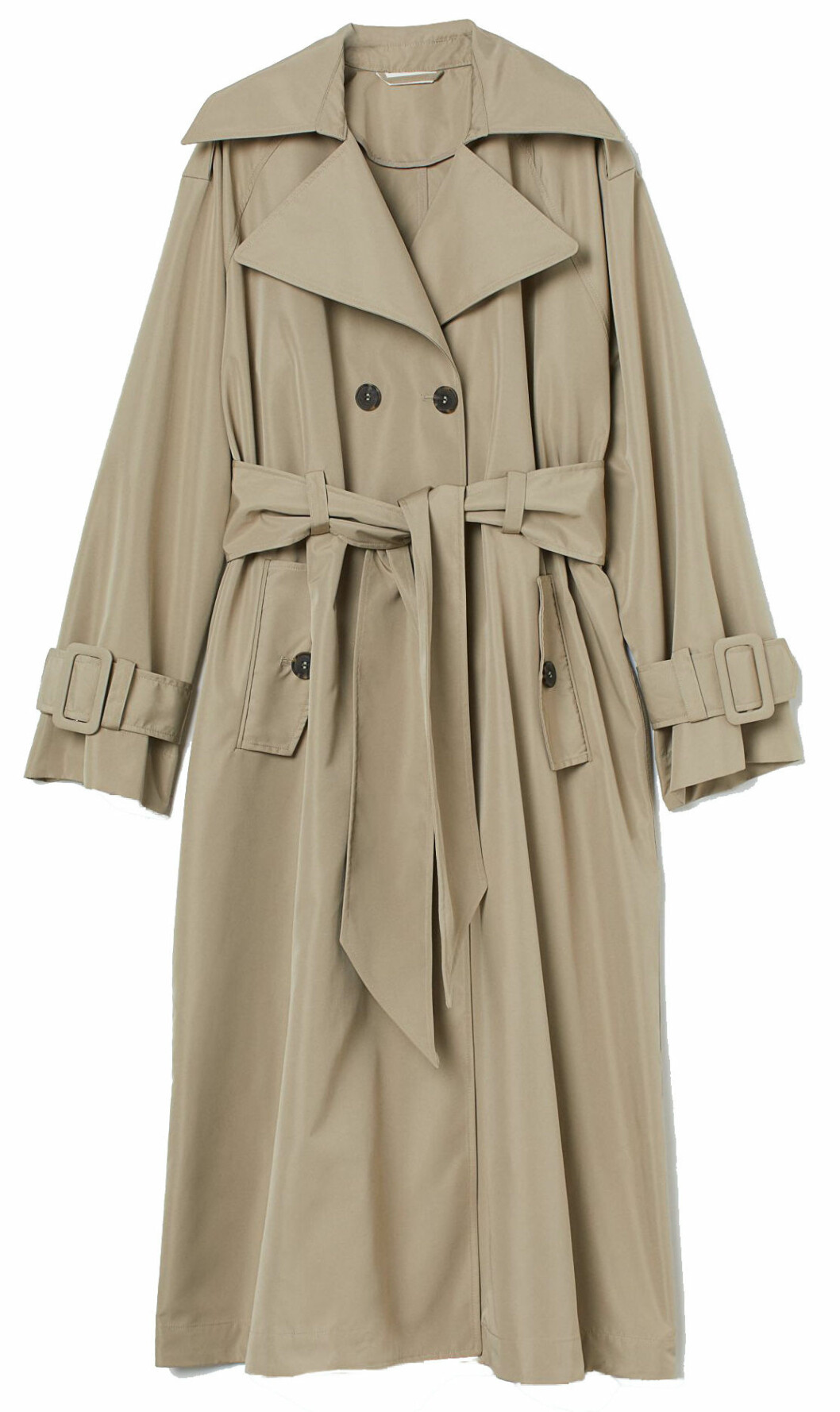 beige oversized trenchcoat från h&m