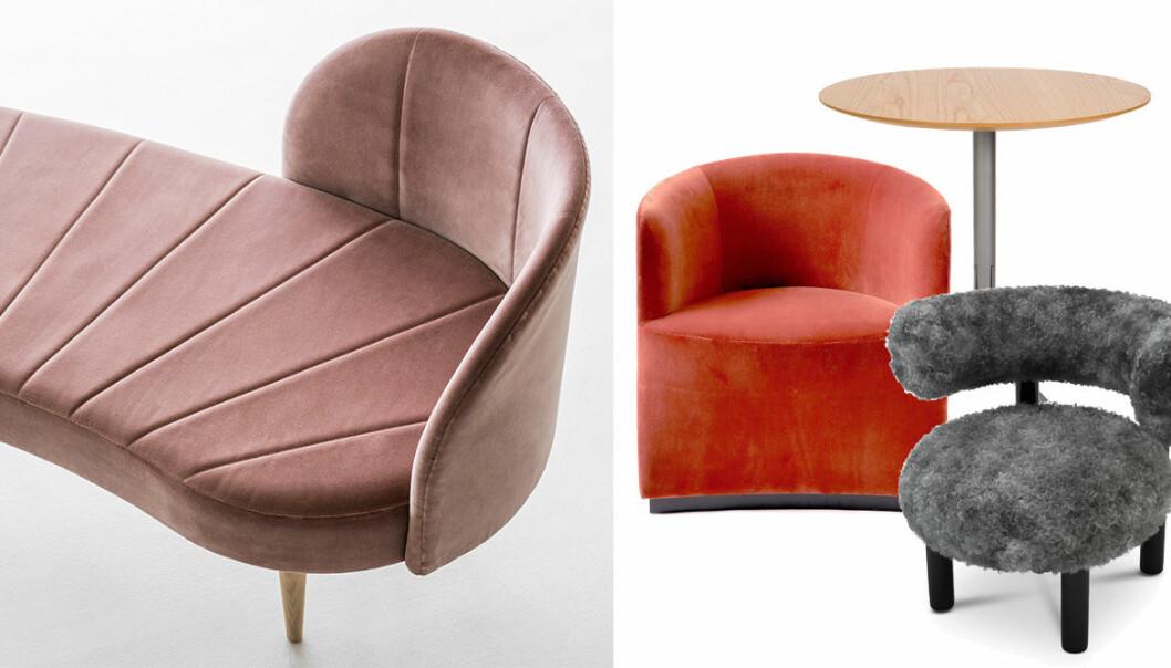 Möbler med rundade former