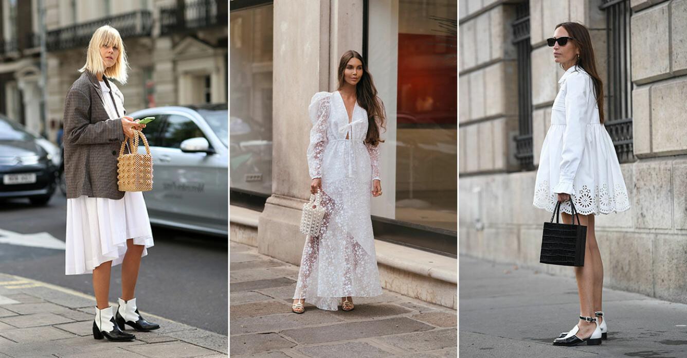 Trendiga vita klänningar