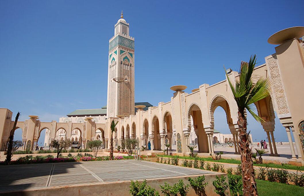 Casablanca i Marocko är en modern storstad.