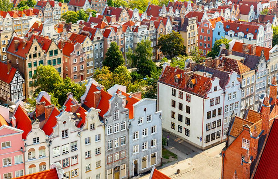 Gdansk i Polen har mycket historia.