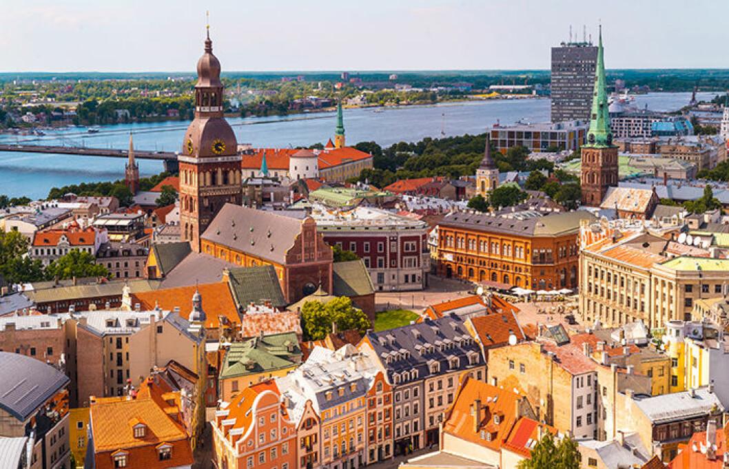 Riga i Lettland är en stad med medeltidskänsla.