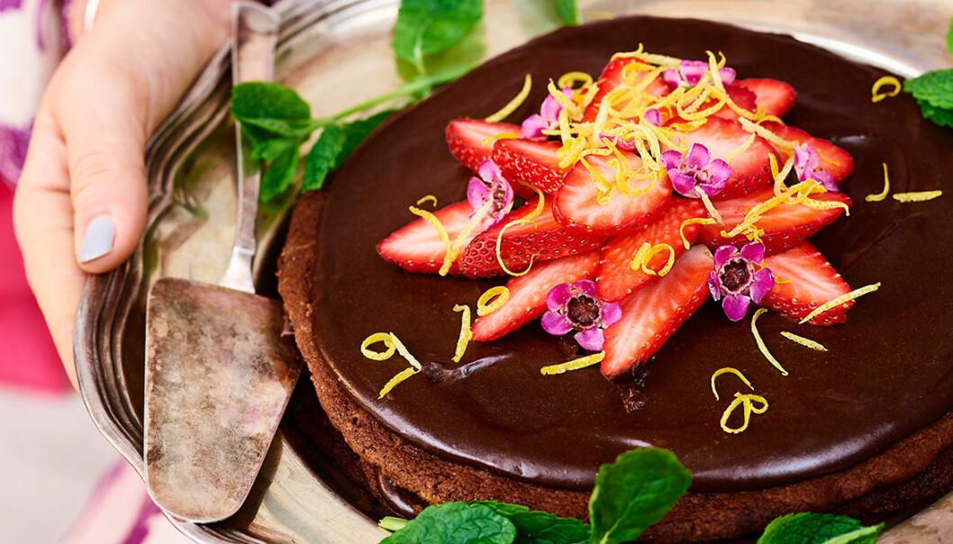 Trippel chokladtårta.