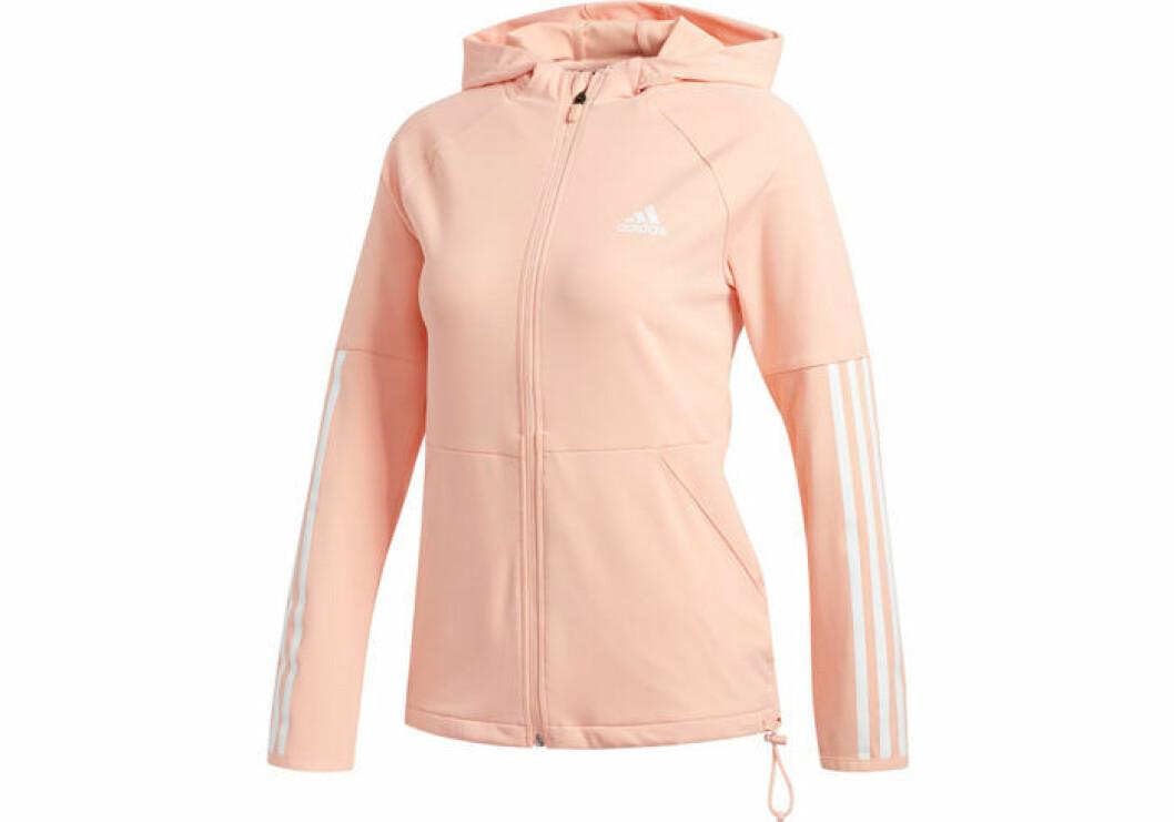 Rosa tröja fårn adidas med fickor i midjan